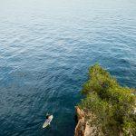 photo plongée sur Séverine sur la cote bleue