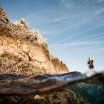 Séverine en paddle sur la côte bleue