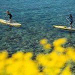 Séverine en paddle dans les calanques