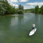 Séverine en paddle en Slovénie