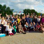photo de groupe en Slovénie