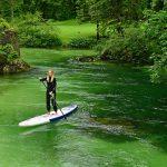 Séverine paddle en Slovénie