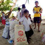 Sac de déchets au Myanmar