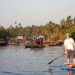Paul en paddle au Myanmar