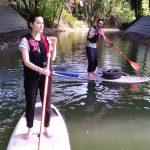 collecte de déchets en paddle à Joinville