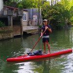 collecte en paddle