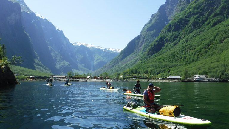 paddles sur le Sognefjord