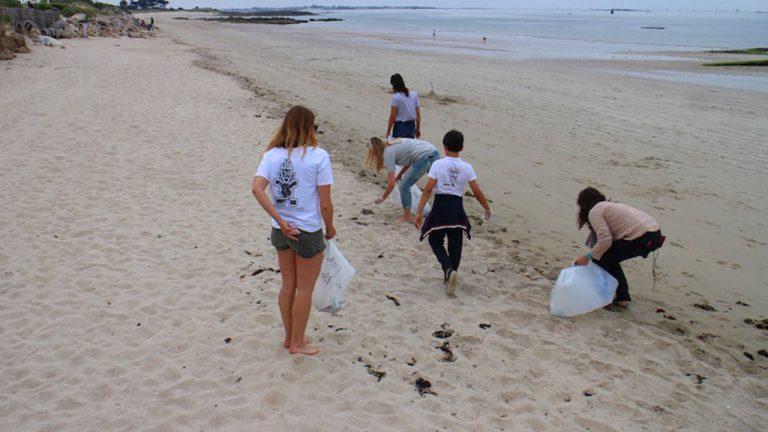 Collecte de déchets de Watertrek en Bretagne