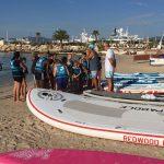 Départ de la collecte de déchets en paddle Cannes
