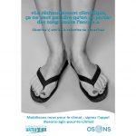Affiche Campagne osons agir pour le climat pied Séverine Vasselin