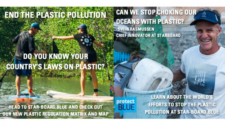 Plastic pollution flyer by Protect Blue
