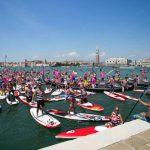 Paddlers de Surfing Venice face à la place Saint-Marc