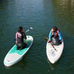 2 paddlers sur le canal saint-martin
