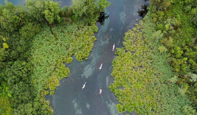 Drone sur Plastic Origins
